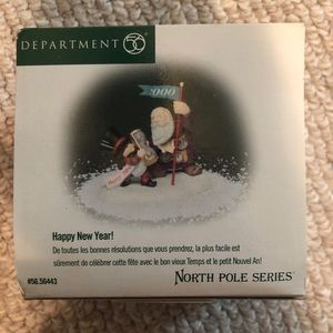 "Dept 56 North Pole 2000 ""Happy New Year"""